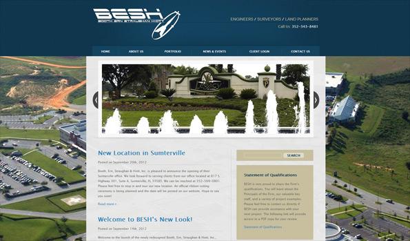 Image of www.BESandH.com homepage